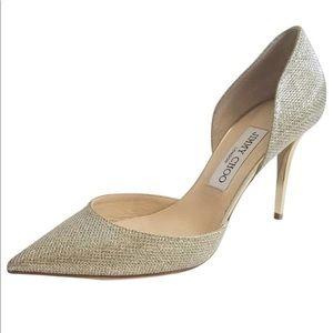 Jimmy Choo Addison glitter heels